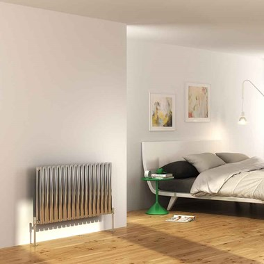 DQ Heating Cove Single Panel Stainless Steel Horizontal Designer Radiator