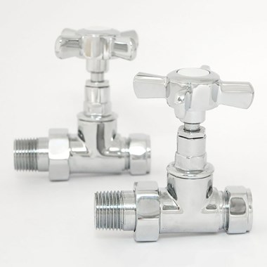 DQ Heating Crosshead Luxury Manual Radiator Valve