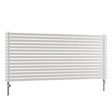 DQ Heating Cube Double Panel Mild Steel Horizontal Designer Radiator - White