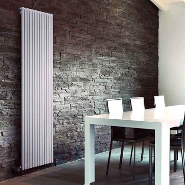 DQ Heating Cube Double Panel Mild Steel Vertical Designer Radiator - White
