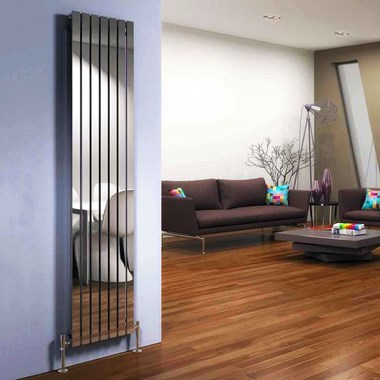 DQ Heating Delta Stainless Steel Vertical Designer Radiator