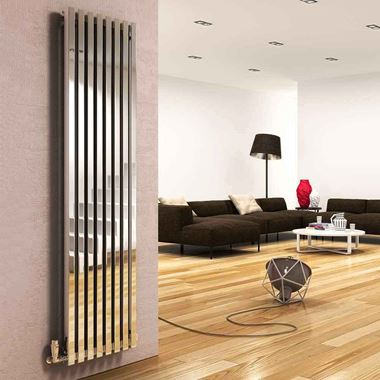 DQ Heating Dune Stainless Steel Vertical Designer Radiator