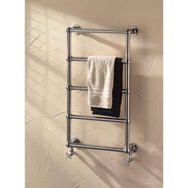 DQ Heating Elveden Wall Mounted Luxury Traditional Heated Towel Rail
