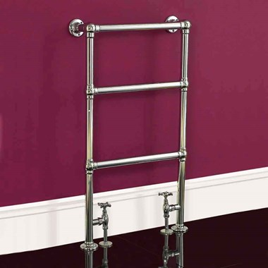 DQ Heating Ickburgh Floor Mounted Luxury Traditional Heated Towel Rail