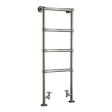 DQ Heating Methwold Floor Mounted Luxury Traditional Heated Towel Rail
