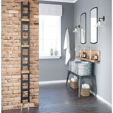 DQ Heating Oakham Heated Towel Rail - Matt Black