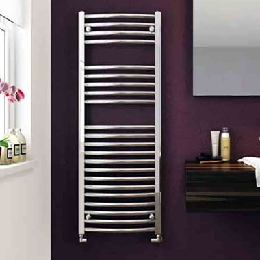 DQ Heating Orion Vertical Curved Heated Towel Rail