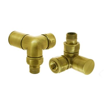 DQ Heating Saturn Corner Luxury Manual Radiator Valve - Gold