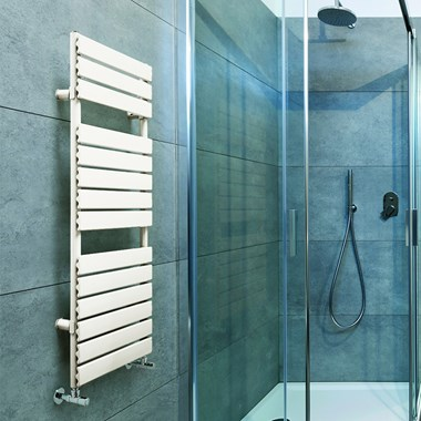 DQ Heating Tornado T Vertical Designer Heated Towel Rail