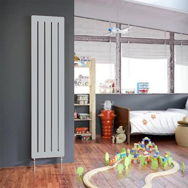 DQ Heating Drifter Vertical Designer Radiator - White