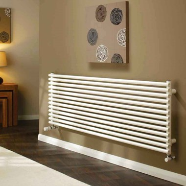 DQ Heating Vulcano Double Panel Mild Steel Horizontal Designer Radiator