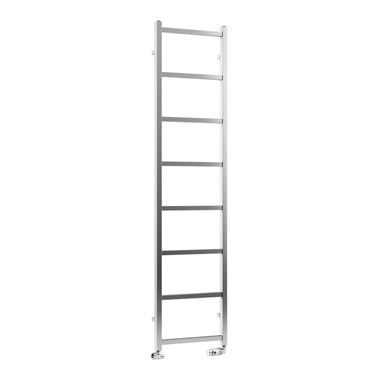 DQ Heating Liana Stainless Steel Vertical Designer Heated Towel Rail - Polished - 800 x 300mm