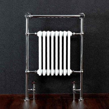 DQ Heating Lynford Floor Mounted Luxury Traditional Heated Towel Rail