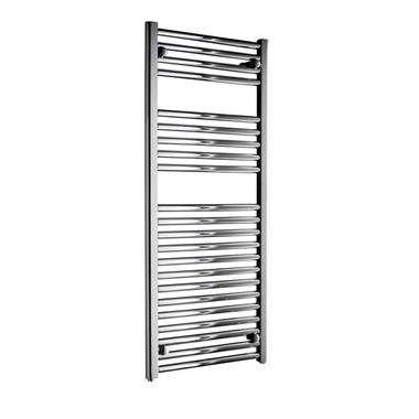 DQ Heating Metro Electric Only Vertical Heated Towel Rail - Chrome