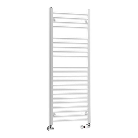 DQ Heating Metro Electric Only Vertical Heated Towel Rail - White