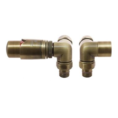 DQ Heating Saturn Corner Luxury Thermostatic Radiator Valve