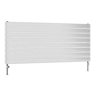 DQ Heating Tornado Double Panel Mild Steel Horizontal Designer Radiator - White
