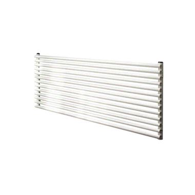 DQ Heating Vulcano Double Panel Mild Steel Horizontal Designer Radiator - White - 400 x 1471mm