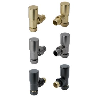 EliteHeat Angled Radiator Valves (Pair)