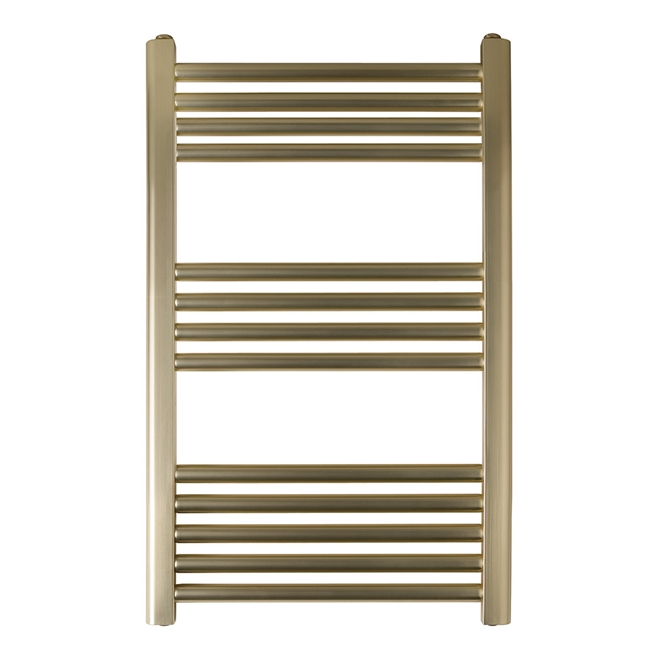 EliteHeat Stainless Steel Ladder Heated Towel Rail 25mm Bars - Brushed Brass - 5 Sizes