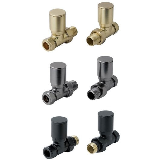 EliteHeat Straight Radiator Valves (Pair)