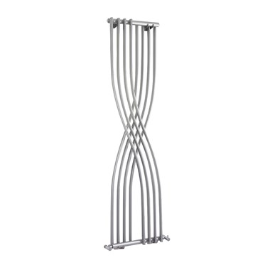 Hudson Reed  Xcite Vertical Designer Radiator - High Gloss Silver - 1775 x 450mm