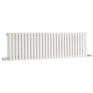 Hudson Reed Refresh Double Panel Horizontal Designer Radiator - White - 300 x 1064mm