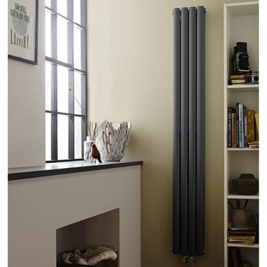 Hudson Reed Revive Compact Vertical Designer Radiator - 1800 x 236mm