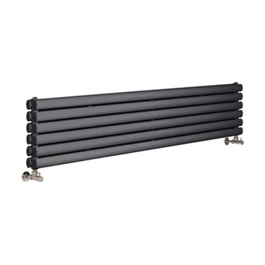 Hudson Reed Revive Double Panel Horizontal Designer Radiator - Anthracite