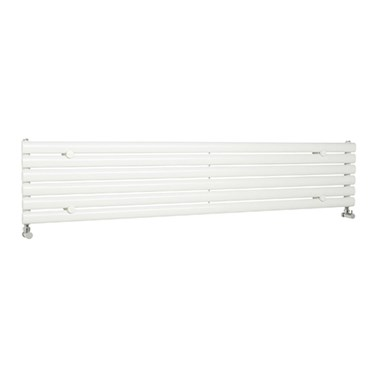 Hudson Reed Revive Single Panel Horizontal Designer Radiator - High Gloss White