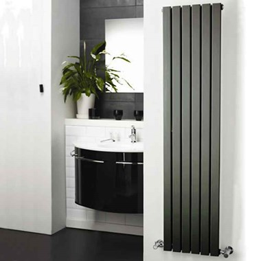 Hudson Reed Sloane Single Panel Vertical Designer Radiator - Anthracite - 1800 x 354mm