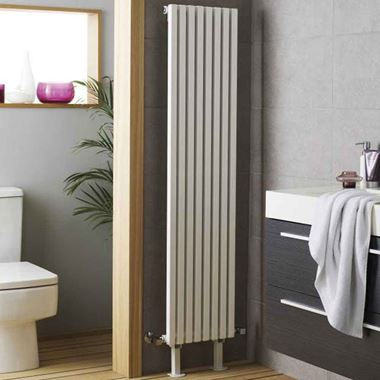 Hudson Reed Kinetic Vertical Designer Radiator - White - 1800 x 360mm