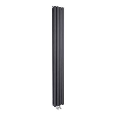 Hudson Reed Revive Compact Double Panel Vertical Designer Radiator - Anthracite - 1800 x 236mm