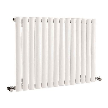 Hudson Reed Revive Single Panel Horizontal Designer Radiator - White - 633x826