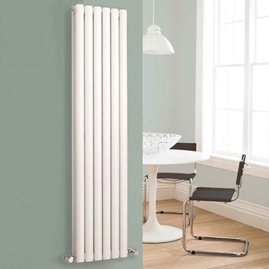 Hudson Reed Revive Double Panel Vertical Designer Radiator - White