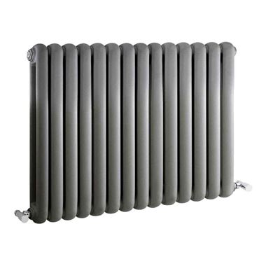 Hudson Reed Salvia Double Panel Horizontal Designer Radiator - Anthracite