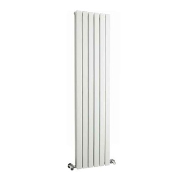 Hudson Reed Sloane Double Panel Vertical Designer Radiator - White - 1500 x 354mm