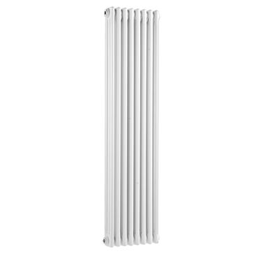 Hudson Reed Colosseum Triple Column Vertical Designer Radiator - White
