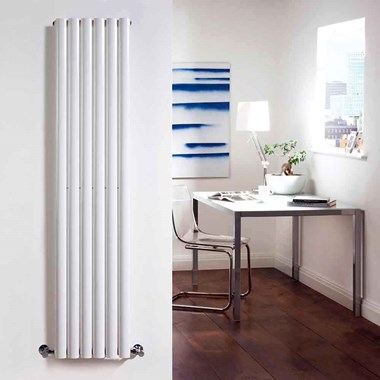 Hudson Reed Revive Single Panel Vertical Designer Radiator - White
