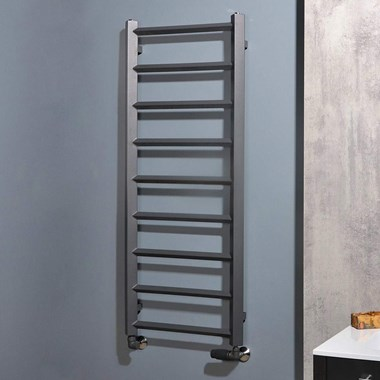 Phoenix Alexa Designer Heated Towel Rail - Anthracite - 1200x504mm