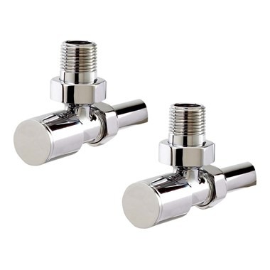 Phoenix Angled Radiator Valves Chrome