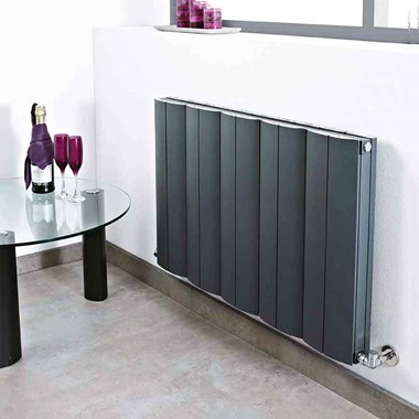 Phoenix Apollo Horizontal Designer Wall Mounted Aluminium Radiator