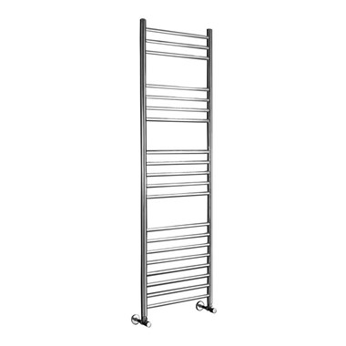 Phoenix Athena Bathroom Electric Heated Towel Rail Radiator - Stainless Steel - 430x500mm