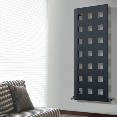 Phoenix Box  Modern Vertical Designer Radiator - Carbon Steel - Anthracite - 1600 x 575mm