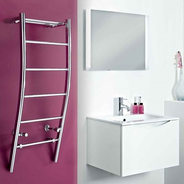 Phoenix Cali Bathroom Designer Heated Towel Rail Radiator - 1200x500mm
