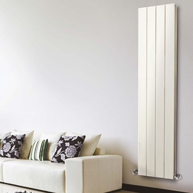 Phoenix Eon Double Panel Aluminium Vertical Designer Radiator - Latte - 1800x375mm