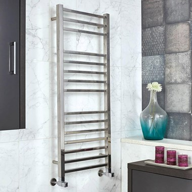 Phoenix Harper Stainless Steel Designer Heated Towel Rail