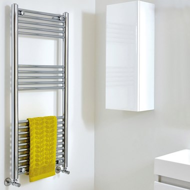 Phoenix Laura Vertical Designer Electric Heated Towel Rail - Black Nickel - 1200x500mm