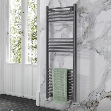 Phoenix Laura Vertical Designer Heated Towel Rail