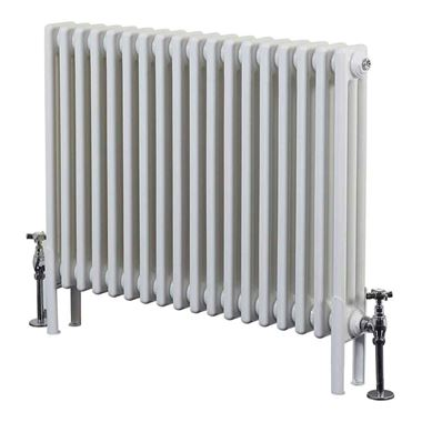 Phoenix Nicole Traditional White 3 Column Style Floor Standing Radiator - 600x999